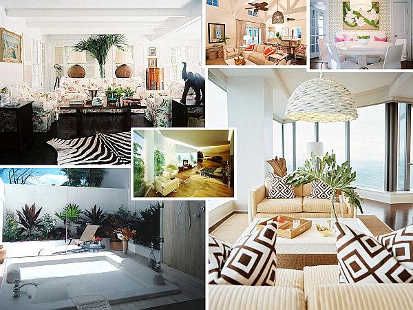 phong cách thiết kế nội thất nhiệt đới