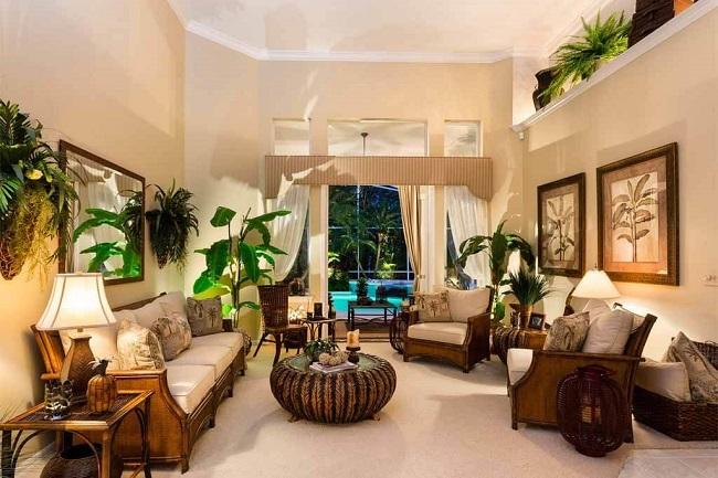 phong cách thiết kế nội thất tropical style