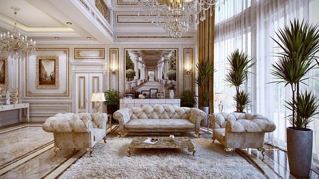 thiết kế nội thất theo phong cách luxury