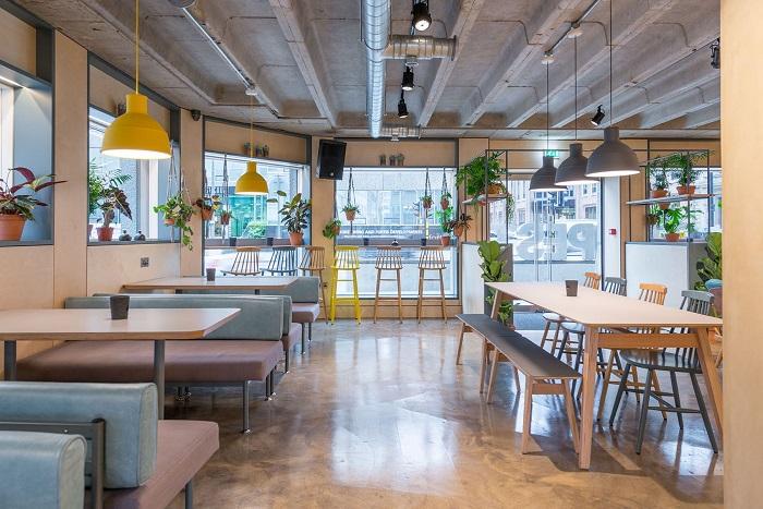 phong cách thiết kế nội thất quán cafe scandinavian