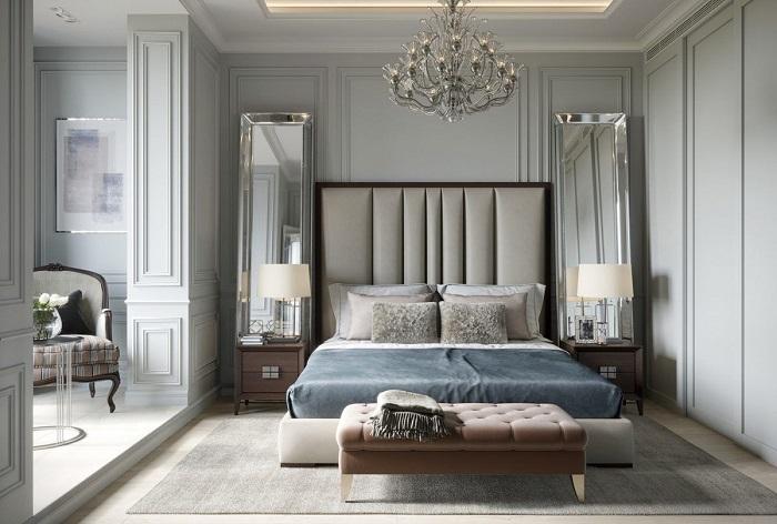 gam màu phòng ngủ tân cổ điển